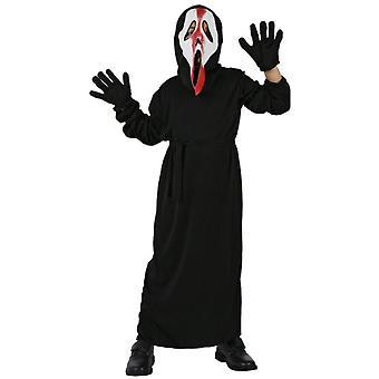 Infantiles disfraces traje de niño de grito de los niños con sangre