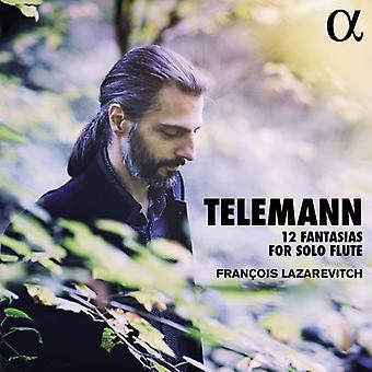 Telemann / Lazarevitch, Francois - Telemann: 12 Fantasias for Solo [CD] USA import