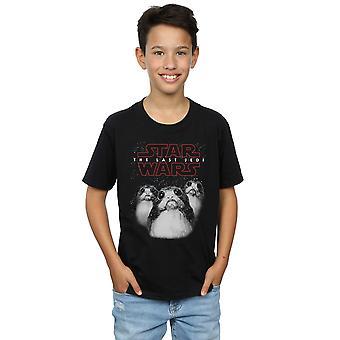 Star Wars pojkar de sista Jedi Porgs T-Shirt