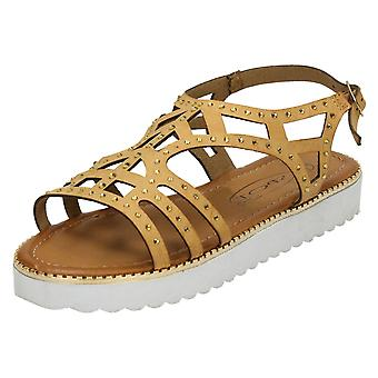 Girls Spot On Low Cut Out Upper Sandal H0180