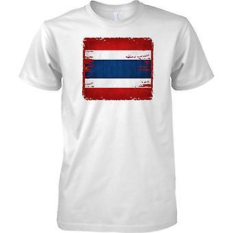 Thailand Grunge Grunge Effect Flag - Mens T Shirt