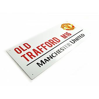 Manchester United FC Official Football Metal Street Sign