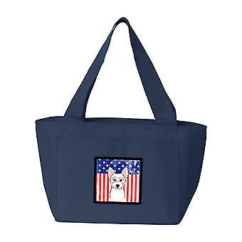 Carolines tesori BB2156NA-8808 bandiera americana e Westie Lunch Bag