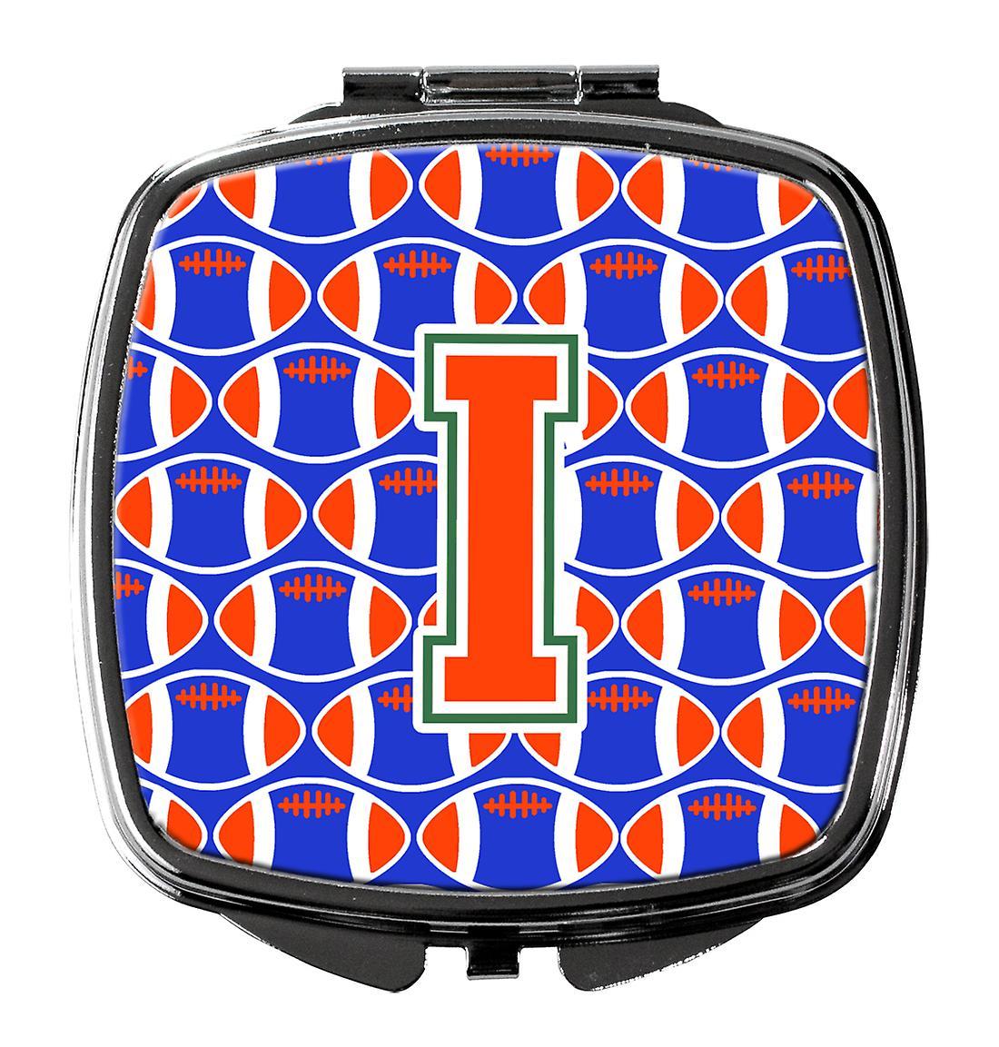 VertBleu Miroir Football Lettre Orange Et Compact I 6vbgyYf7
