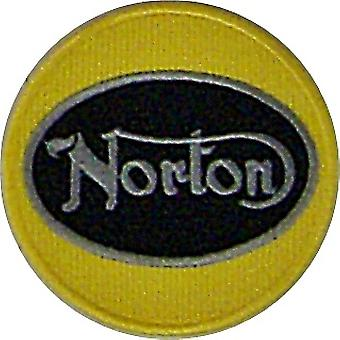 Norton yellow round sew-on embroidered patch (yy)