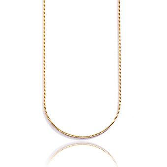 10k Yellow Gold Hollow Franco Chain Necklace with Lobster Clasp , 2.2mm