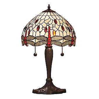 Dragonfly Small Tiffany Style Beige Table Lamp - Interiors 1900 64086