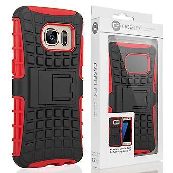 Caseflex Samsung Galaxy S7 støtteben Combo sag - rød