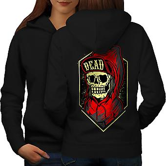 Death Gangster Women BlackHoodie Back | Wellcoda