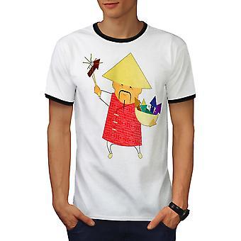 e4038427 Sale Chinese New Year Men White / BlackRinger T-shirt | Wellcoda