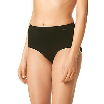 Mey 89021-3 Women's Black Solid Colour Full Panty Highwaist Brief
