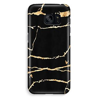 Samsung S7 Edge volledige Case - goud marmer afdrukken