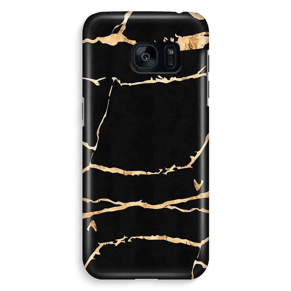 Samsung S7 Edge Full Print Case - Gold marble