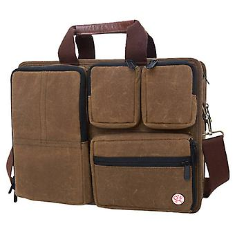 Token Hewes Waxed Briefcase - Field Tan