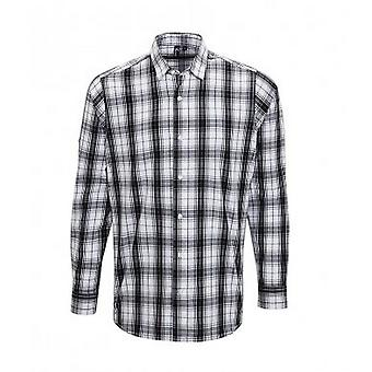 Premier Mens Ginmill Check Long Sleeve Shirt