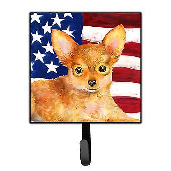 Carolineøerne skatte BB9722SH4 Toy Terrier patriotiske snor eller nøgleringe