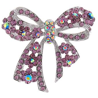 Brooches Store Large Light Amethyst Crystal Bow Brooch