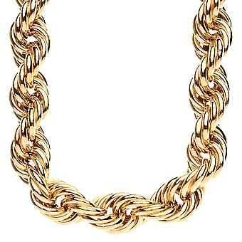 Heavy rope DMC style hip hop necklace - 20mm gold