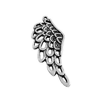 Packet 6 x Antique Silver Tibetan 42mm Wing Charm/Pendant ZX16470