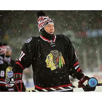 Marian Hossa 2014 NHL Stadium Series Photo Print