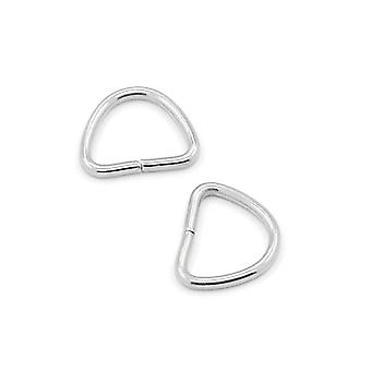 Packet 30 x Silver 304 Stainless Steel D Shape Open Jump Rings 7 x 9mm Y00300