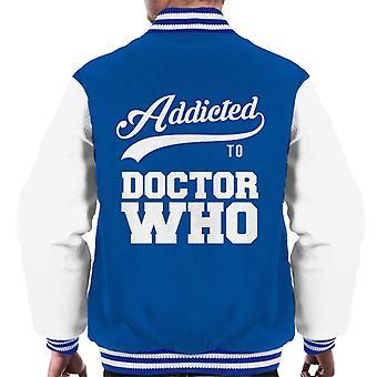 Addicted To Doctor Who Baseball Font Men's Varsity Jacket