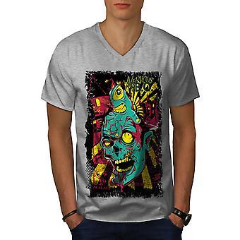 Nervös Brain Dead Men GreyV-Neck T-shirt   Wellcoda