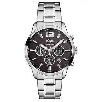 s.Oliver Herren Uhr Armbanduhr Edelstahl SO-3173-MC