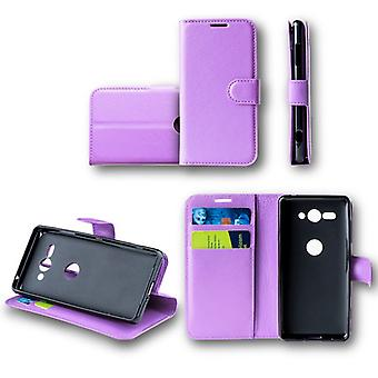 For Huawei Y6 2018Tasche wallet premium purple protection sleeve case cover pouch new accessories