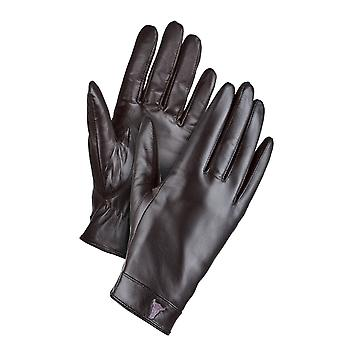 Touchscreen 'digital Touch' Gloves, Super Soft Black Goat Leather, With Velvet Lining