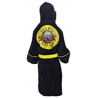 Guns and Roses Kids Dressing Gown / Bathrobe (boys girls children's child' robe) - Large