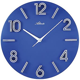 Atlanta 4397/5 wall clock quartz analog blue round