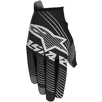 Alpinestars Black-White 2017 Radar Tracker Kids MX Gloves