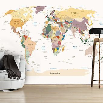 Tapete - Weltkarte
