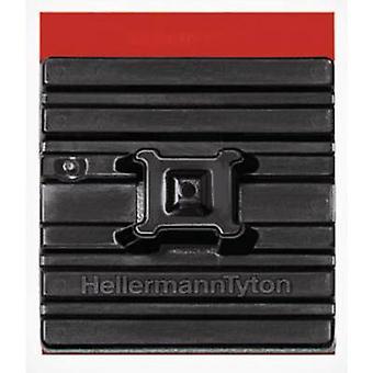 Cable mount Self-adhesive flexible base, 4x thread Black HellermannTyton 151-01527 FMB4APT-I-PA66HS-BK 1 pc(s)