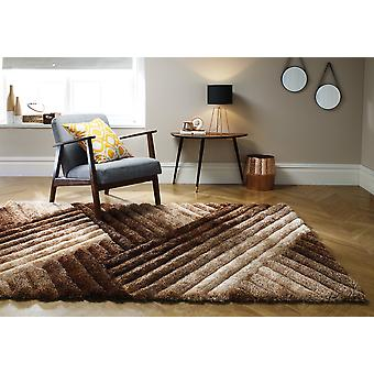 Accent Lattice Brown Bronze  Rectangle Rugs Plain/Nearly Plain Rugs