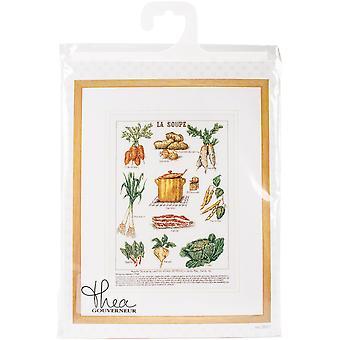 La Soup On Aida Counted Cross Stitch Kit-14
