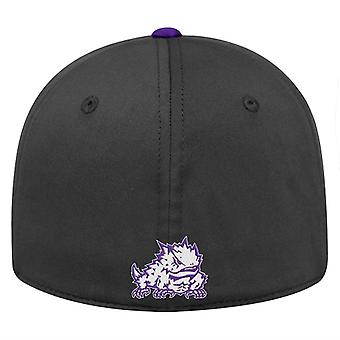 TCU Horned Frogs NCAA TOW Impact Black Stretch Fitted Hat