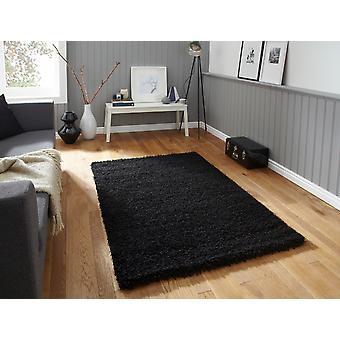 Vista - Plain 2236 sort sort rektangel tæpper almindelig/næsten almindelig tæpper