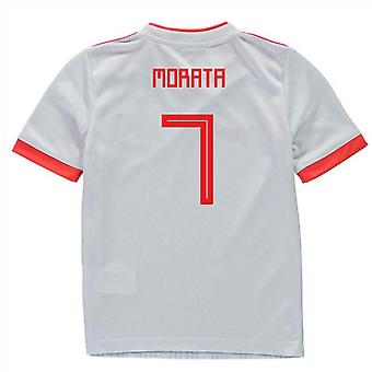 2018-2019 Spagna Away Adidas Mini Kit (Morata 7)