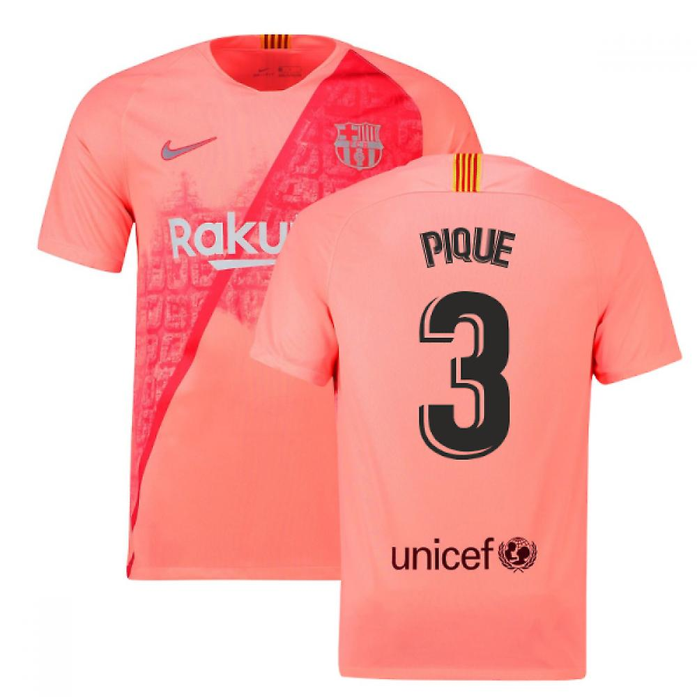 2018-2019 Barcelona Third Nike Football Shirt (Pique 3)