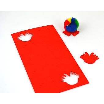 10 Foam Self Adhesive Feet Shapes for Bugs - Red | Childrens Craft Foam