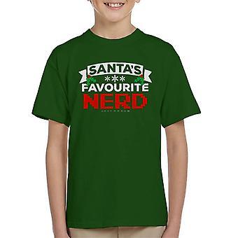 T-shirt Babbi Natale Nerd preferito natale bambini