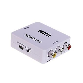 HDMI to AV Adapter-(3 x RCA) NTSC/PAL Compatible-White