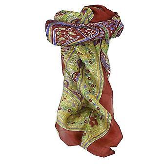 Pañuelo cuadrado de seda tradicionales de Mora Penner Rose por Pashmina y seda