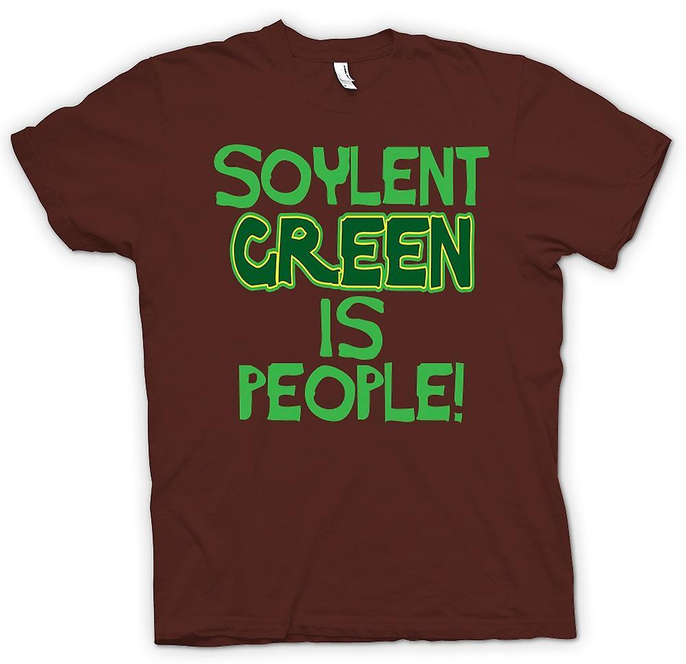 Heren T-shirt-Soylent Green Is mensen - grappig