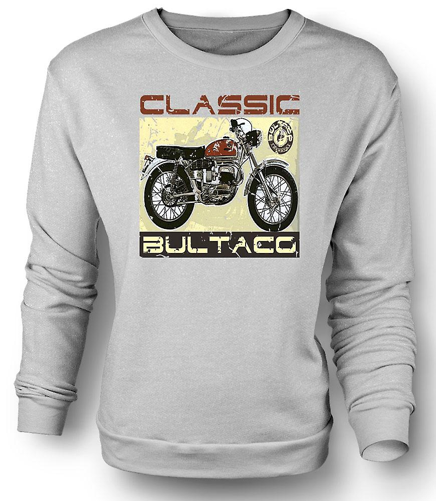 Mens Sweatshirt Bultaco Classic Dirt Bike