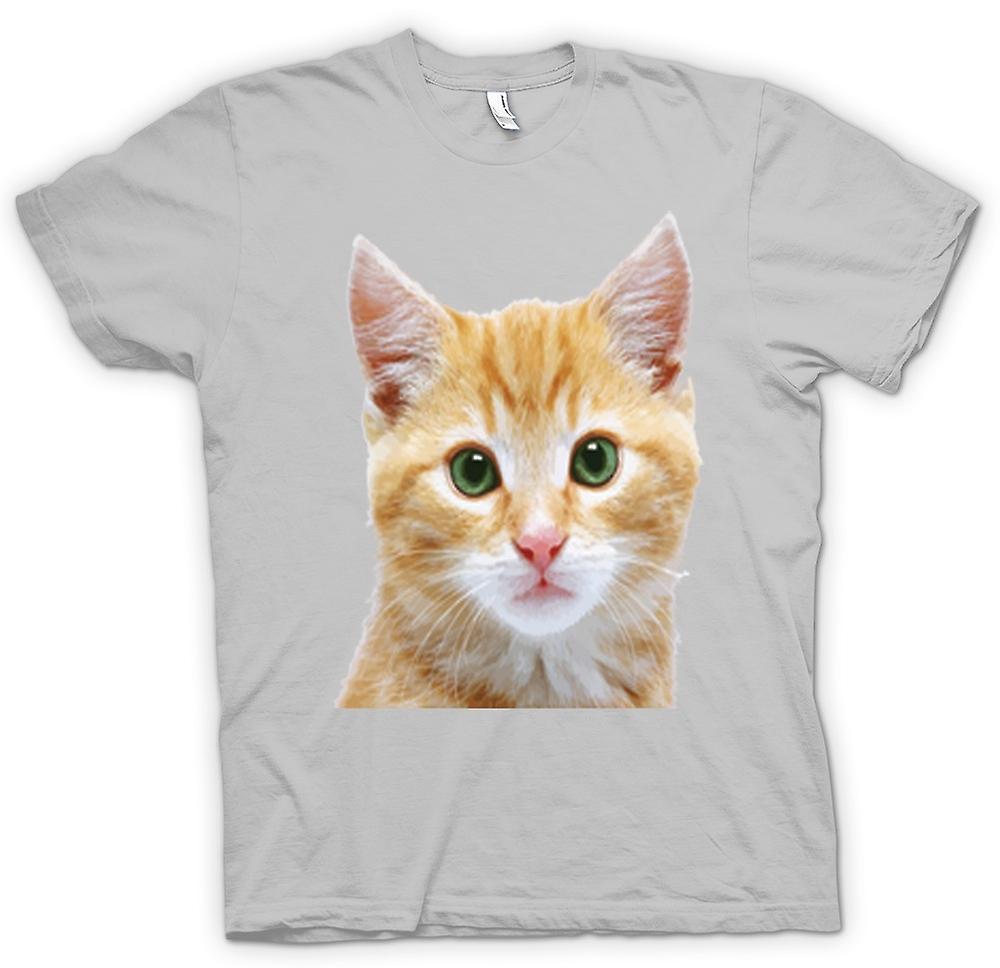 Mens T-shirt-hübsch rote Katze Gesicht Portrait