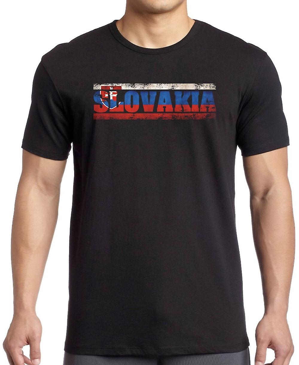 Slovakia Flag - Words Kids T Shirt