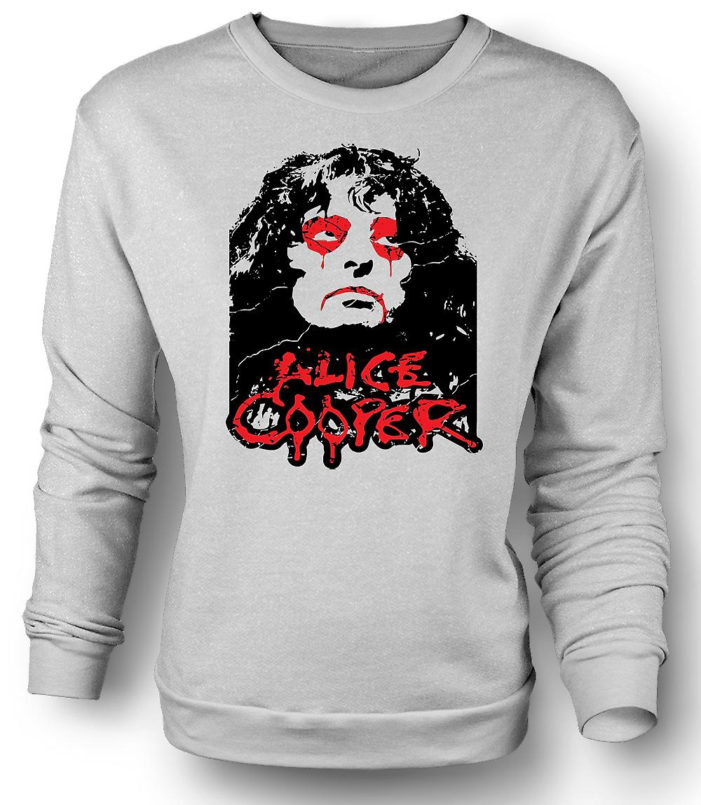 Mens Sweatshirt Alice Cooper ogen